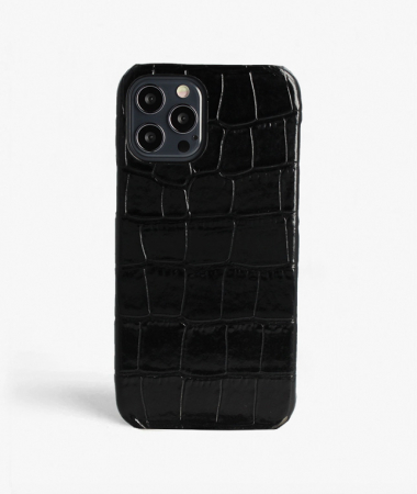 PRE-ORDER iPhone 12 Pro Crocodile Black Large Pattern