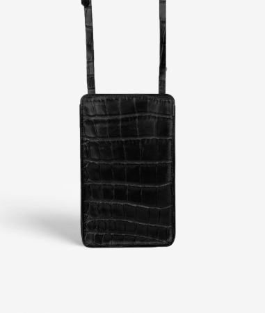 The Smart Crossbody Bag Crocodile Black