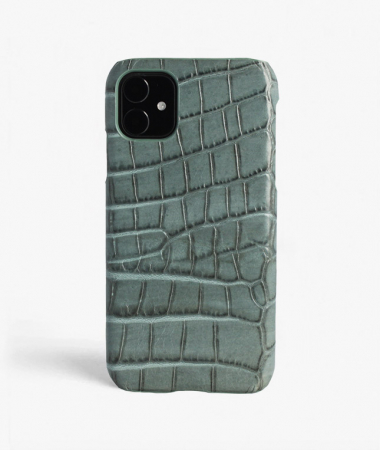 iPhone 11 Crocodile Teal Large Pattern
